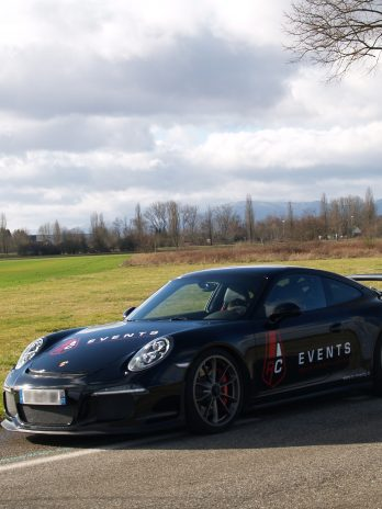 Balade sur route ouverte en Porsche GT3